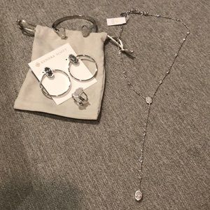 Earnings, size 6 ring, necklace and bracelet